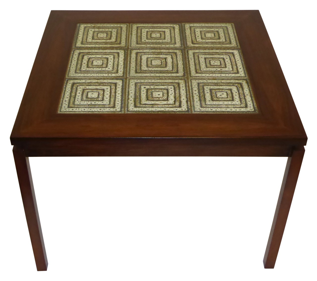 Danish Mid Century Modern Rosewood Coffee Table With Nils
